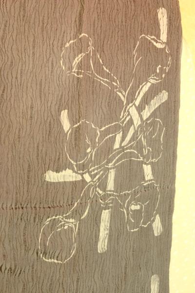 2007-40 カラーのお花 シルクストール ブラウングレー_e0104046_14564333.jpg