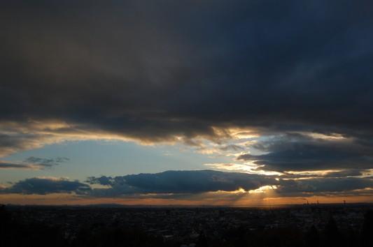 八面山からの夕景_c0126161_23322356.jpg