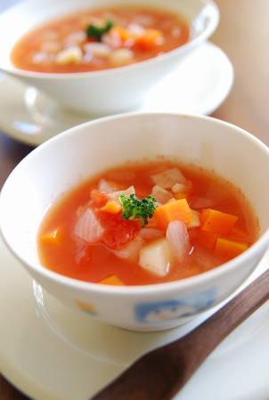 たっぷり野菜のトマトスープ_a0103712_19422675.jpg