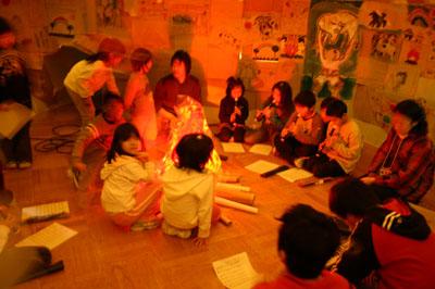 2007年12月5日(水) 「学校の中に洞窟があるなんて!」_a0062127_6524837.jpg