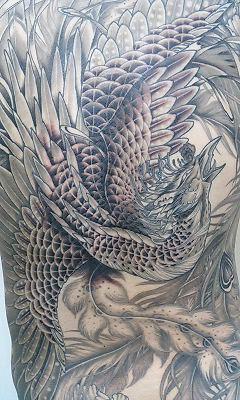 本日の刺青画像◆「鳳凰」です。_b0072539_14433137.jpg