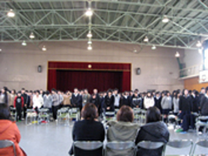 12月8日、「夢バトン」の今・・・第五中学校・人権フェスタ「ひまわ」を「見て・・・_d0024438_1784897.jpg