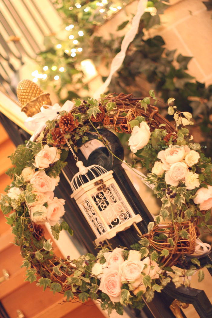 シェ松尾天王洲倶楽部さまの装花 一会とクリスマス_a0042928_021503.jpg