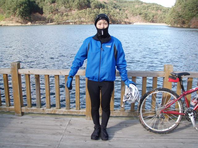 の格好。冬用自転車タイツ ...