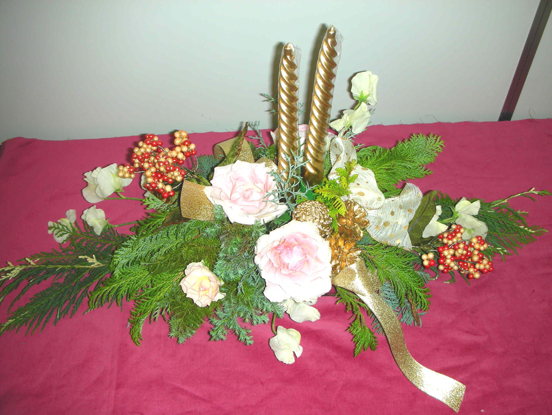 花教室「クリスマスの食卓を飾る花」 神宮にて_c0128489_0301455.jpg