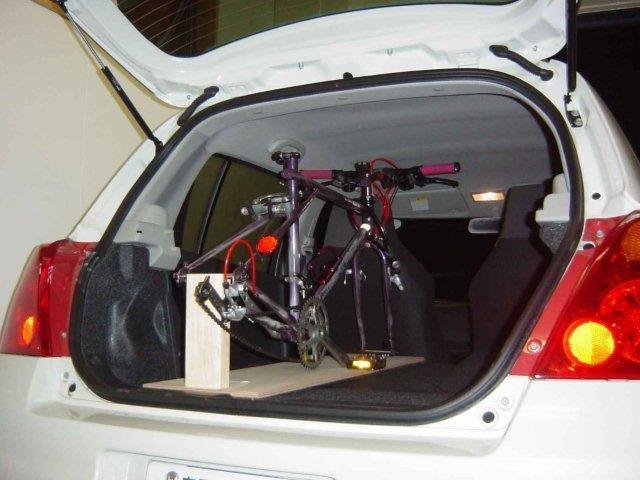 自転車の 自転車 車載 車内 自作 : ちょっとサイクリングと ...