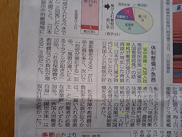 外国人労働者63%容認 坂中英徳・前東京入国管理局長コメント_d0027795_15165341.jpg
