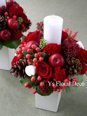 クリスマスの会場装花_b0113510_132524.jpg