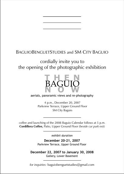 バギオの歴史を観る写真展 と バギオ・カレンダー2008_a0109542_1313177.jpg