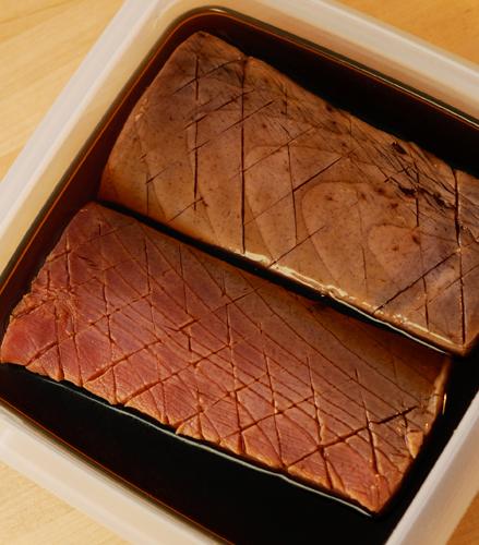 漢(おとこ)の料理・ カボチャ、マグロ漬け丼_a0003650_22225143.jpg