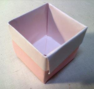 ☆折り紙の箱作り方・深い箱 ... : 紙 箱 折り方 : 折り方