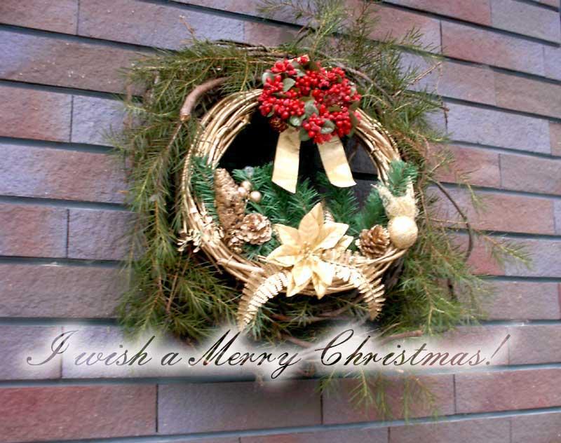 手作り クリスマスリース_d0109415_16341051.jpg