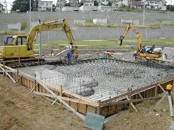 C棟工事着工・基礎・建て方_c0038619_10223787.jpg