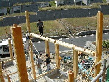 C棟工事着工・基礎・建て方_c0038619_1023396.jpg