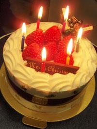 クリスマスケーキのプレゼント☆_c0071924_23195583.jpg
