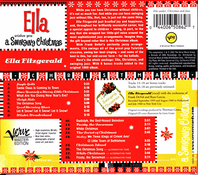 Ella Fitzgerald 「A SWINGIMG CHRISTMAS」_e0048332_151257.jpg