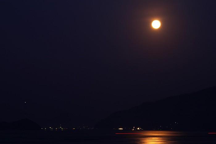 立花海岸夜景&満月_c0152379_6282489.jpg