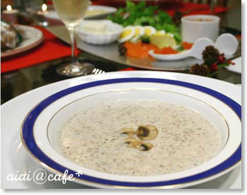 シャンピニオンのスープ&お好みカナッペ_a0056451_12581293.jpg