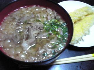 肉たぬきうどん_c0025217_13284227.jpg