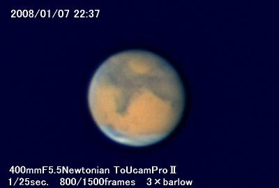 年明け最初の火星_a0095470_23414011.jpg