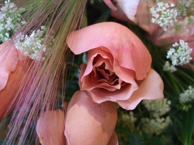オークリーフ(バラ・ジュリアとスイートピーの花束)_f0049672_16453030.jpg