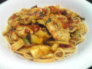 鶏むね肉とセロリのトマトソーススパゲティ_c0025217_1193821.jpg