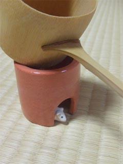 鼠の蓋置、初稽古   「仙」_b0075826_2339267.jpg