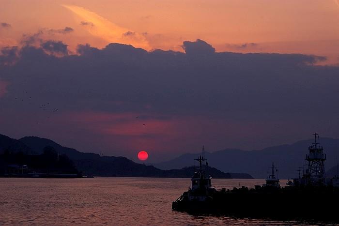 尾道水道穏やかな夕暮れ_c0152379_12332313.jpg