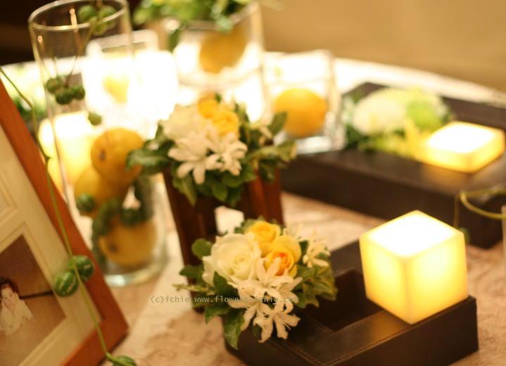 写真と一緒に飾る花 フォトスペース装花_a0042928_22224550.jpg