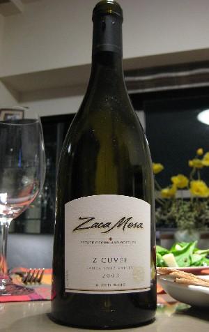 今年最初のワインは、Santa BarbaraのRohneブレンドを@ZACA MESAWinery & Vineyards 2003 Z Cuvee_c0013687_2050792.jpg