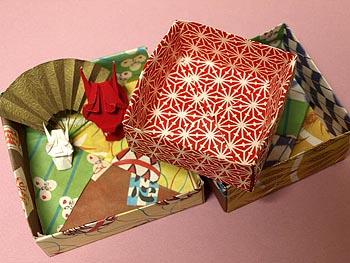 クリスマス 折り紙 : 紙 箱 折り方 : gayasan.exblog.jp