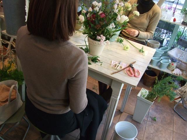 オークリーフ花の教室(姉妹の土曜日)_f0049672_1711431.jpg