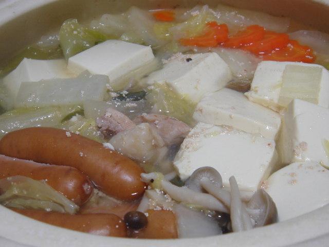 プチプチとろみ豆腐鍋_f0011179_20473962.jpg