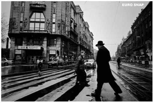 雪が雨に変わったブダペストを歩く_d0145410_17541263.jpg
