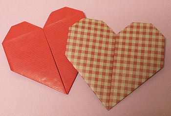 ☆ハートの折り方B・折り紙 ... : 折り紙箸袋作り方鶴 : 折り紙