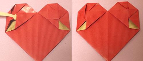 クリスマス 折り紙 手紙 ハート 折り方 長方形 : gayasan.exblog.jp