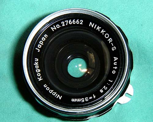 ●NIKKOR-S 35mmF2.8 ● 頑固なレンズのカビ取り     mentenin_d0138130_1939779.jpg