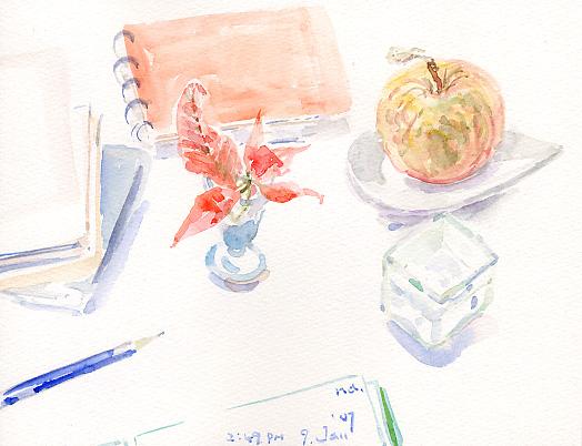 葉っぱつきりんご、おいぼれりんごになる。_d0115092_910048.jpg