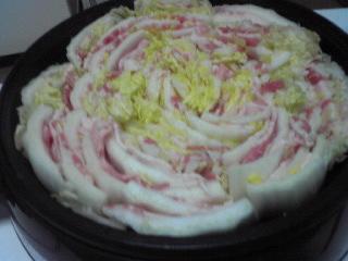 豚バラと白菜の重ね鍋_c0025217_1311484.jpg
