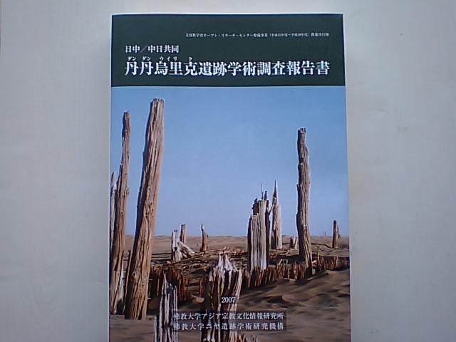 小島康誉先生からダンダンウィリク遺跡学術調査報告書_d0027795_11212354.jpg