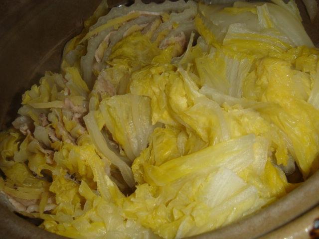 白菜と豚肉の蒸し鍋_f0011179_0172375.jpg