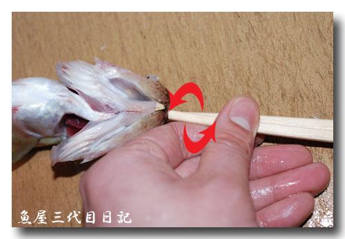 魚の捌き方「つぼ抜き」です......... ハタハタ(鰰)を捌いてみました!_d0069838_1365645.jpg
