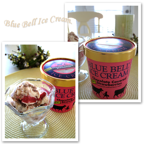 Blue Bell Chocolate Covered Strawberries