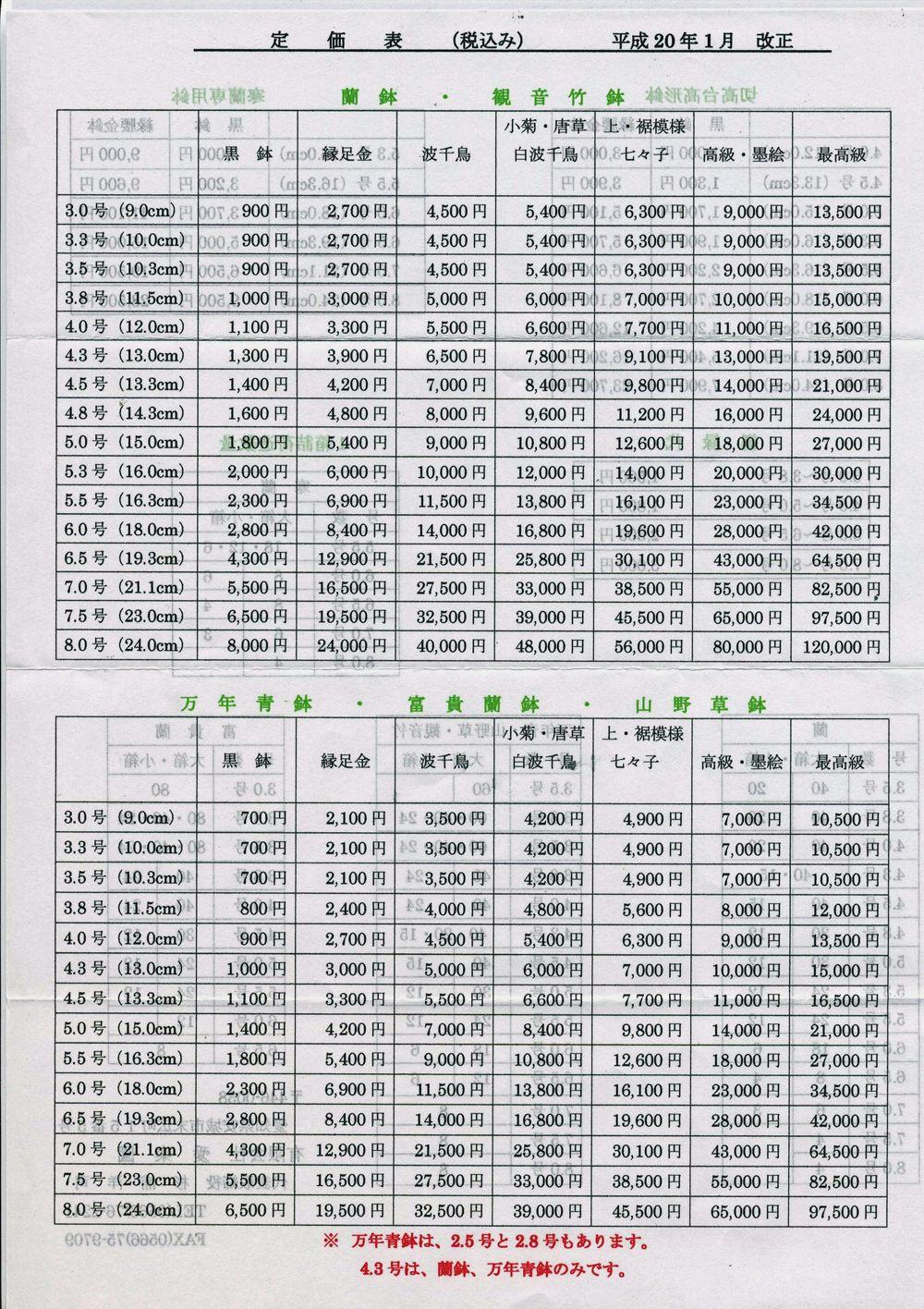 愛楽園・楽焼き鉢・新価格表            No.208_d0103457_11493768.jpg