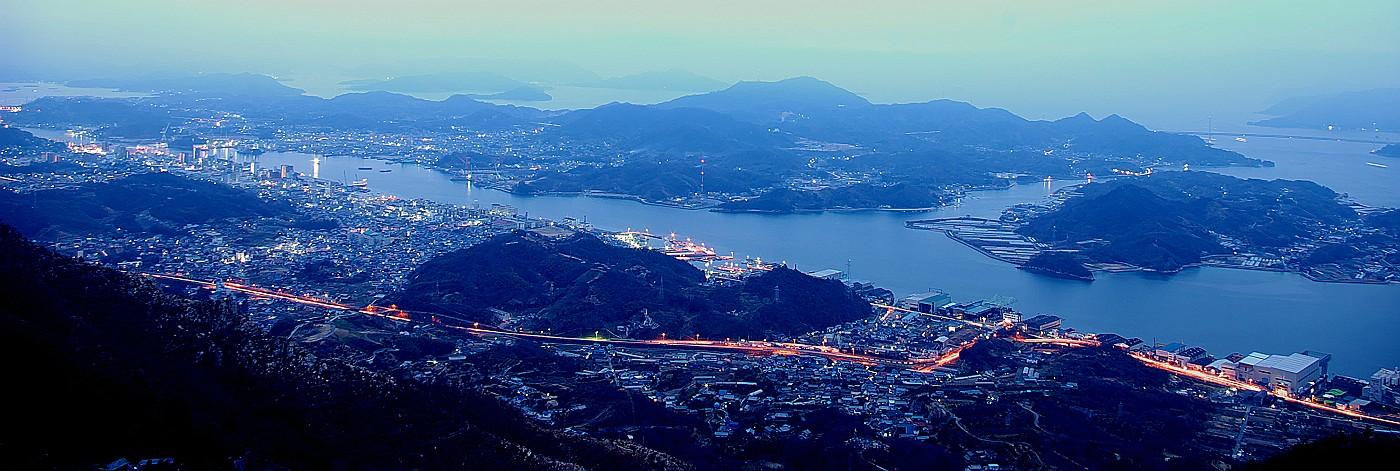 鳴滝山より尾道駅前から向島・岩子島_c0152379_94045.jpg