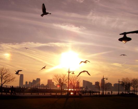 夕日を浴びにハドソン・リバー・パークへ_b0007805_23175576.jpg