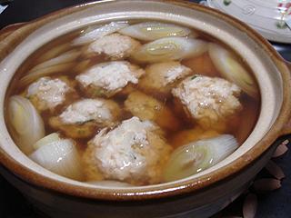 鶏団子とねぎの醤油鍋_c0025217_11361891.jpg
