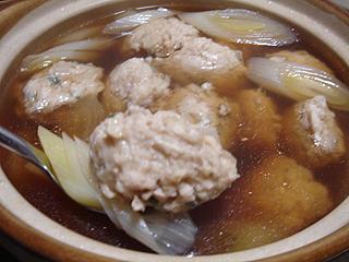 鶏団子とねぎの醤油鍋_c0025217_11363061.jpg