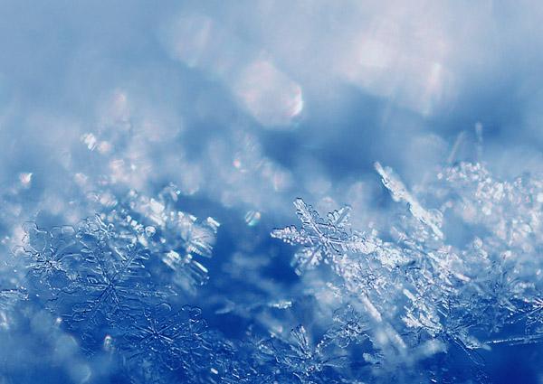 六花 雪の結晶 : 十勝の空から