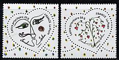 フランス・バレンタイン切手_e0086476_1246283.jpg